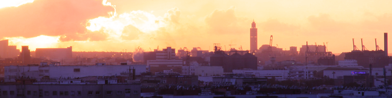 Cityscape with sunset view, Casablanca, Morocco