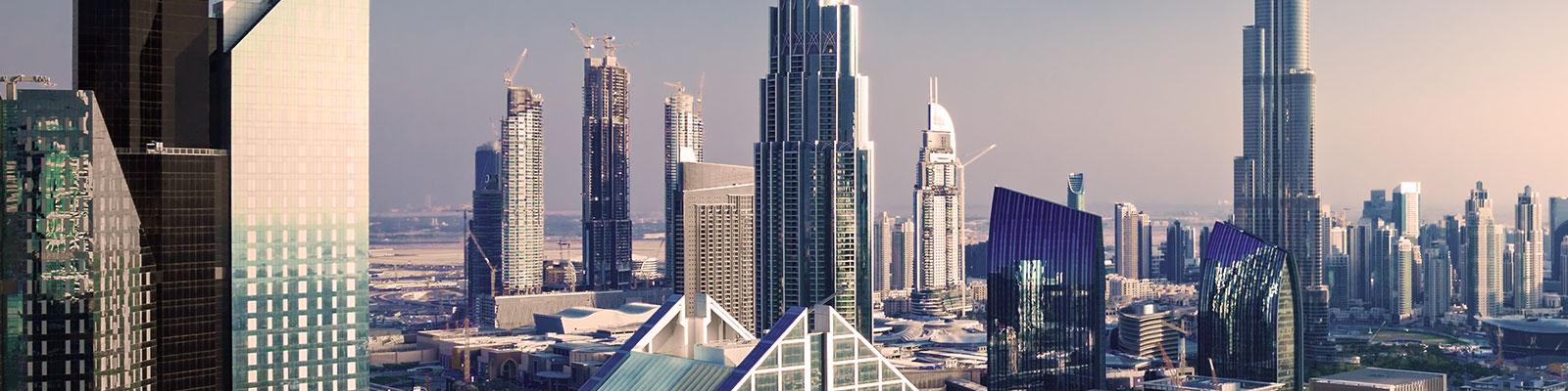 Cityscape with skyscrapers, Dubai, United Arab Emirates