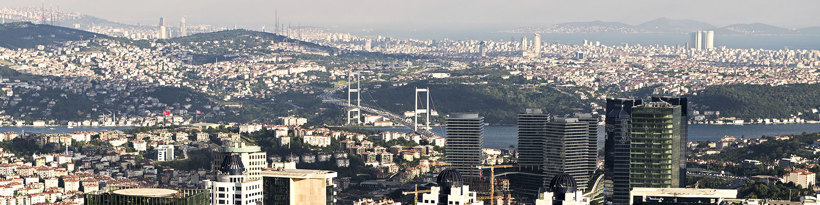 Cityscape with Bosphorus view, Istanbul, Turkey