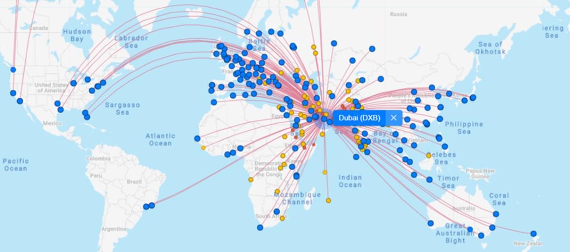 Map of Dubai airport