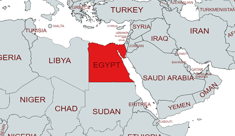 Egypt geographical location