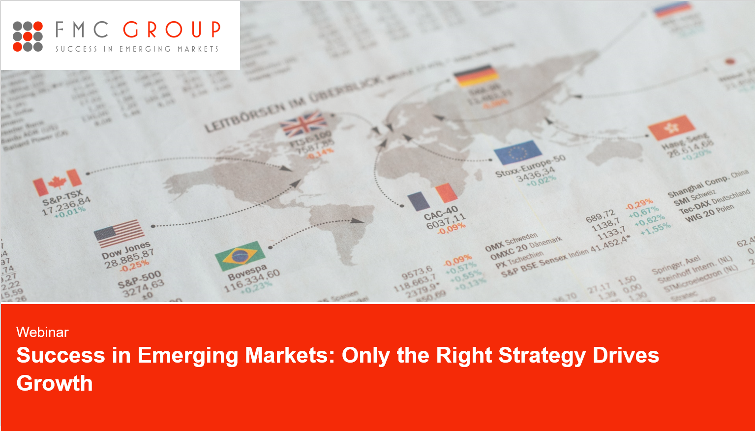 cover page of Webinar - Success in Emerging Markets
