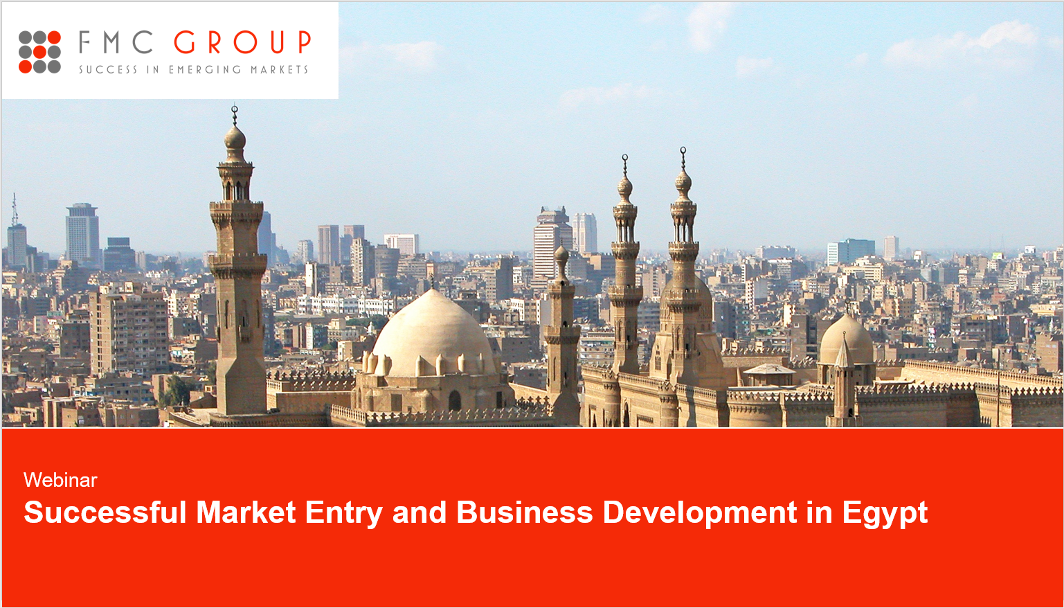 """cover page of webinar """"Successful Market Entry and Business Development in Egypt"""""""