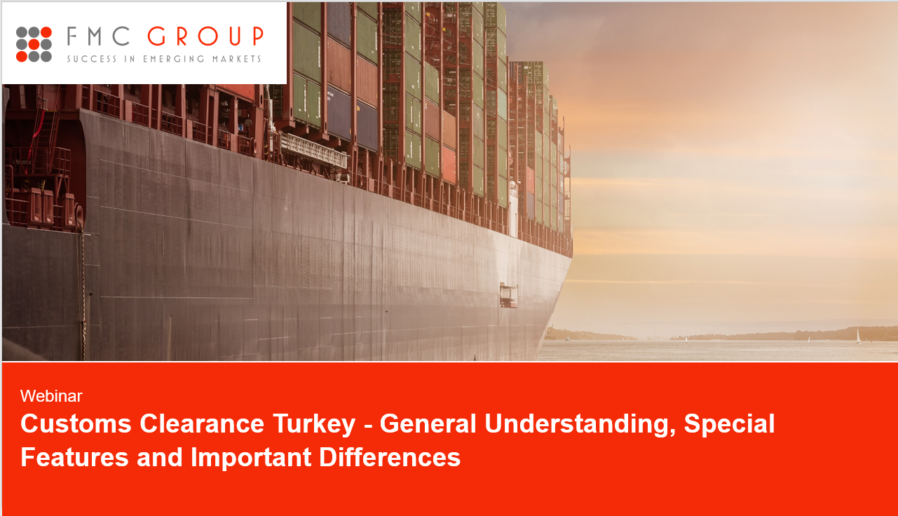 cover page of Webinar - Customs Clearance Turkey