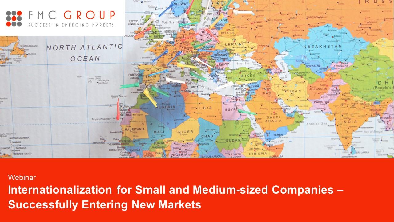 cover page of Webinar - Internationalisation